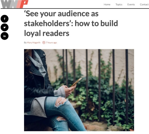 WNIP See your audience as stakeholders